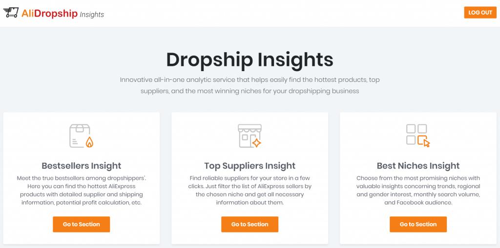 Alidroship insight - כלי לאיתור מוצרים טובים לדרופשיפינג